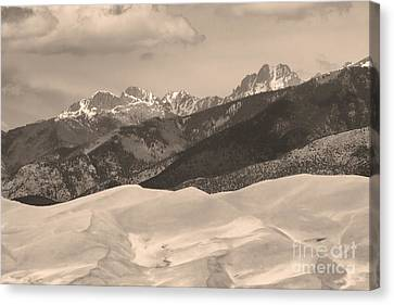 The Great Sand Dunes Sepia Print 45 Canvas Print by James BO  Insogna