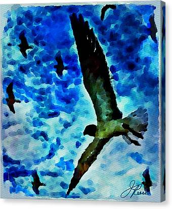 Canvas Print featuring the painting The Great Seagull by Joan Reese