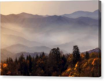 The Great Smoky Mountains Canvas Print by Ellen Heaverlo