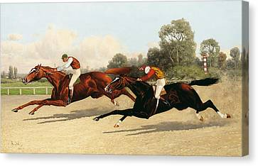 the Great Ten Thousand Dollar Match Canvas Print by Henry Stull