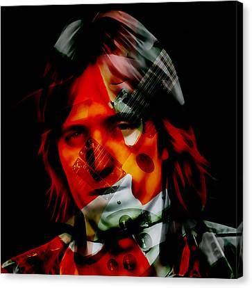 Canvas Print featuring the mixed media The Great Tom Petty by Marvin Blaine