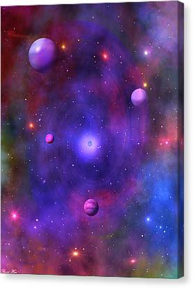 Canvas Print featuring the digital art The Great Unknown by Bernd Hau