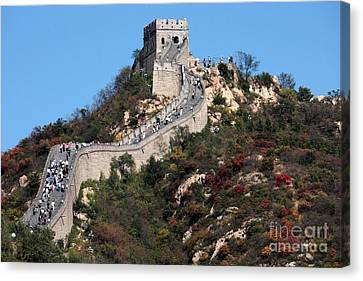 The Great Wall Mountaintop Canvas Print by Carol Groenen