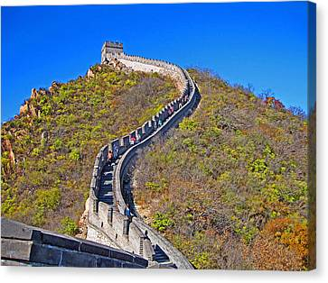 The Great Wall Of China. Canvas Print by Andy Za