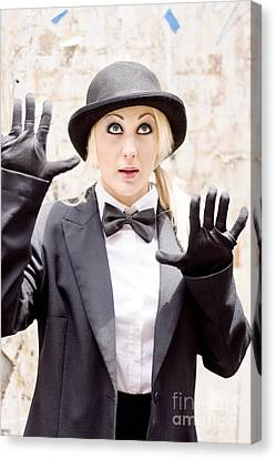 The Great Wall Of Mime Canvas Print