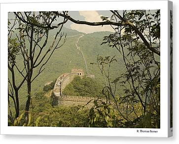 The Great Wall Canvas Print by R Thomas Berner