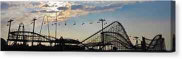 The Great White Roller Coaster - Adventure Pier Wildwood Nj Canvas Print