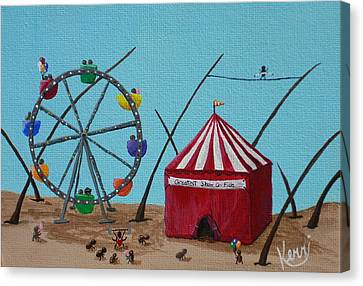 The Greatest Show On Fido Canvas Print