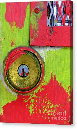 The Green And Red Dor Canvas Print by Tara Turner