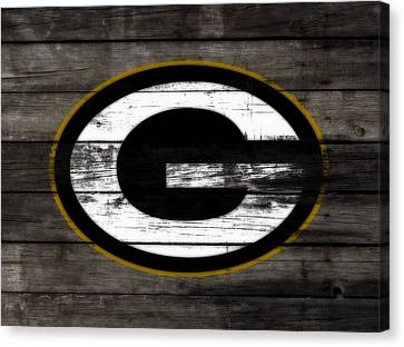 Wooden Bowl Canvas Print - The Green Bay Packers 3b    by Brian Reaves