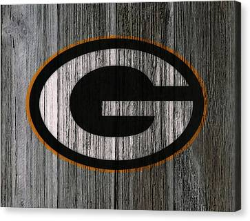 Wooden Bowl Canvas Print - The Green Bay Packers 7f    by Brian Reaves
