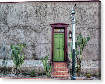 Canvas Print featuring the photograph The Green Door by Lynn Geoffroy