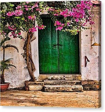 The Green Door Canvas Print by Rod Jellison