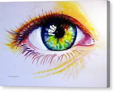 The Green Eye Canvas Print by Estela Robles
