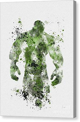 Comic Book Canvas Print - The Green Giant by Rebecca Jenkins