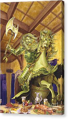 The Green Knight Canvas Print by Melissa A Benson