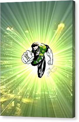The Green Lantern Canvas Print by Michael Dijamco