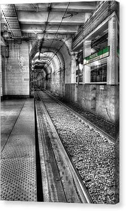 The Green Line Canvas Print by JC Findley