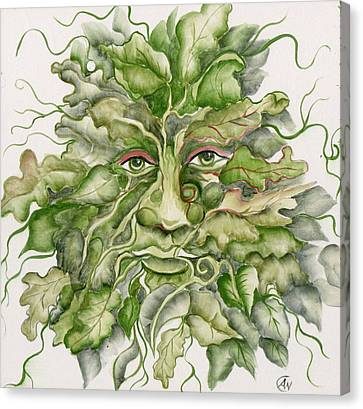 The Green Man Canvas Print by Angelina Whittaker Cook