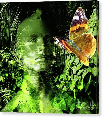 Canvas Print featuring the photograph The Green Man by LemonArt Photography
