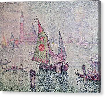 The Green Sail Canvas Print by Paul Signac
