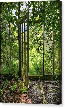 The Greenhouse Door Canvas Print