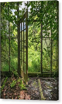 The Greenhouse Door Canvas Print