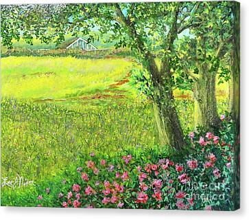 Canvas Print featuring the painting The Greenhouse by Lee Nixon