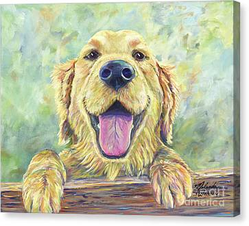 House Pet Canvas Print - The Greeter by Malanda Warner