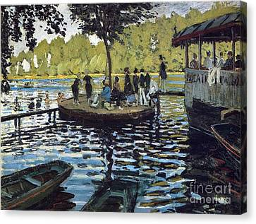 The Grenouillere Canvas Print by Monet