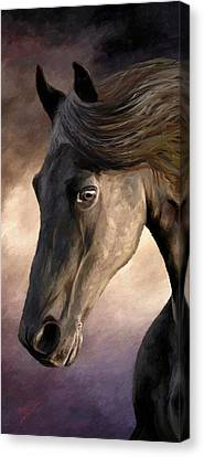 Canvas Print featuring the painting The Grey by James Shepherd