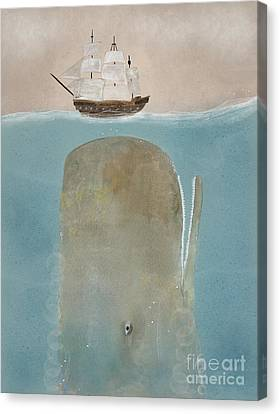 Whale Canvas Print - The Grey Whale by Bleu Bri