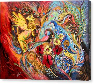 The Griffin Kingdom Canvas Print by Elena Kotliarker