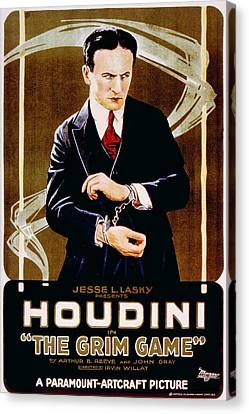 The Grim Game, Harry Houdini, 1919 Canvas Print by Everett