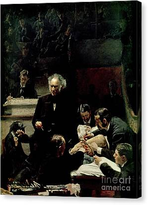 The Gross Clinic Canvas Print by Thomas Cowperthwait Eakins