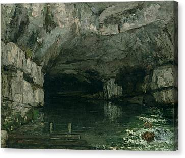 The Grotto Of The Loue Canvas Print by Gustave Courbet