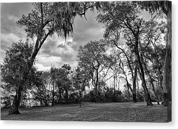 The Grounds Of Fort Caroline National Memorial Canvas Print by John M Bailey