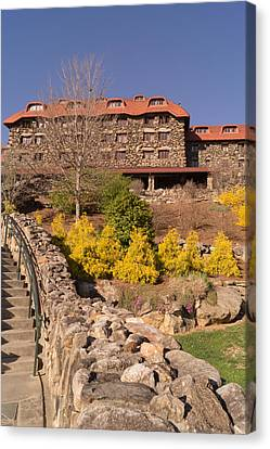 The Grove Park Inn In Early Spring From Below Canvas Print