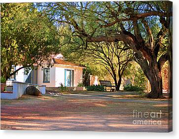 Canvas Print featuring the photograph The Guest House  by Donna Greene