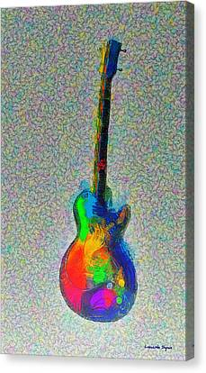 The Guitar - Da Canvas Print