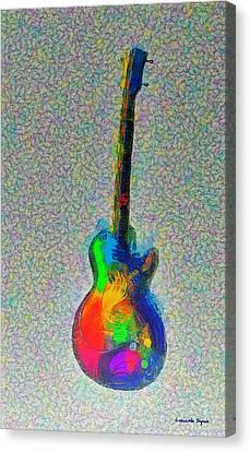 Roll Canvas Print - The Guitar - Pa by Leonardo Digenio
