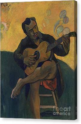 The Wooden Cross Canvas Print - The Guitarist by Paul Gauguin