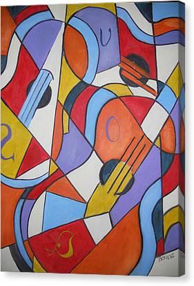 The Guitars Canvas Print by Brandi  Hickman