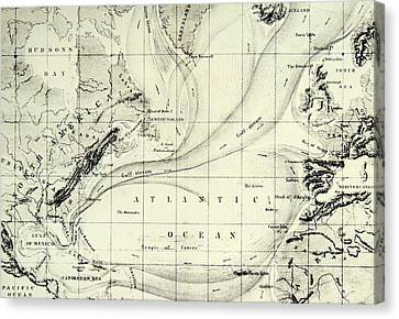 The Gulf Stream Of The Atlantic Ocean Canvas Print by  Elisee Reclus