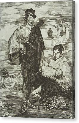 The Gypsies Canvas Print by Edouard Manet