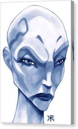 The Hairless Harpy Aka Asajj Ventress Canvas Print