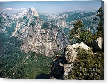 The Half Dome Yosemite Np Canvas Print by Daniel Heine