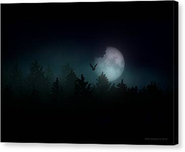 Ghostly Canvas Print - The Hallowed Moon by Jules Gompertz