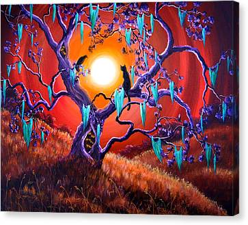 The Halloween Tree Canvas Print by Laura Iverson