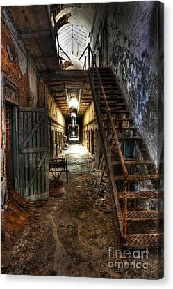 The Hallway Of Broken Dreams - Eastern State Penitentiary - Lee Dos Santos Canvas Print by Lee Dos Santos